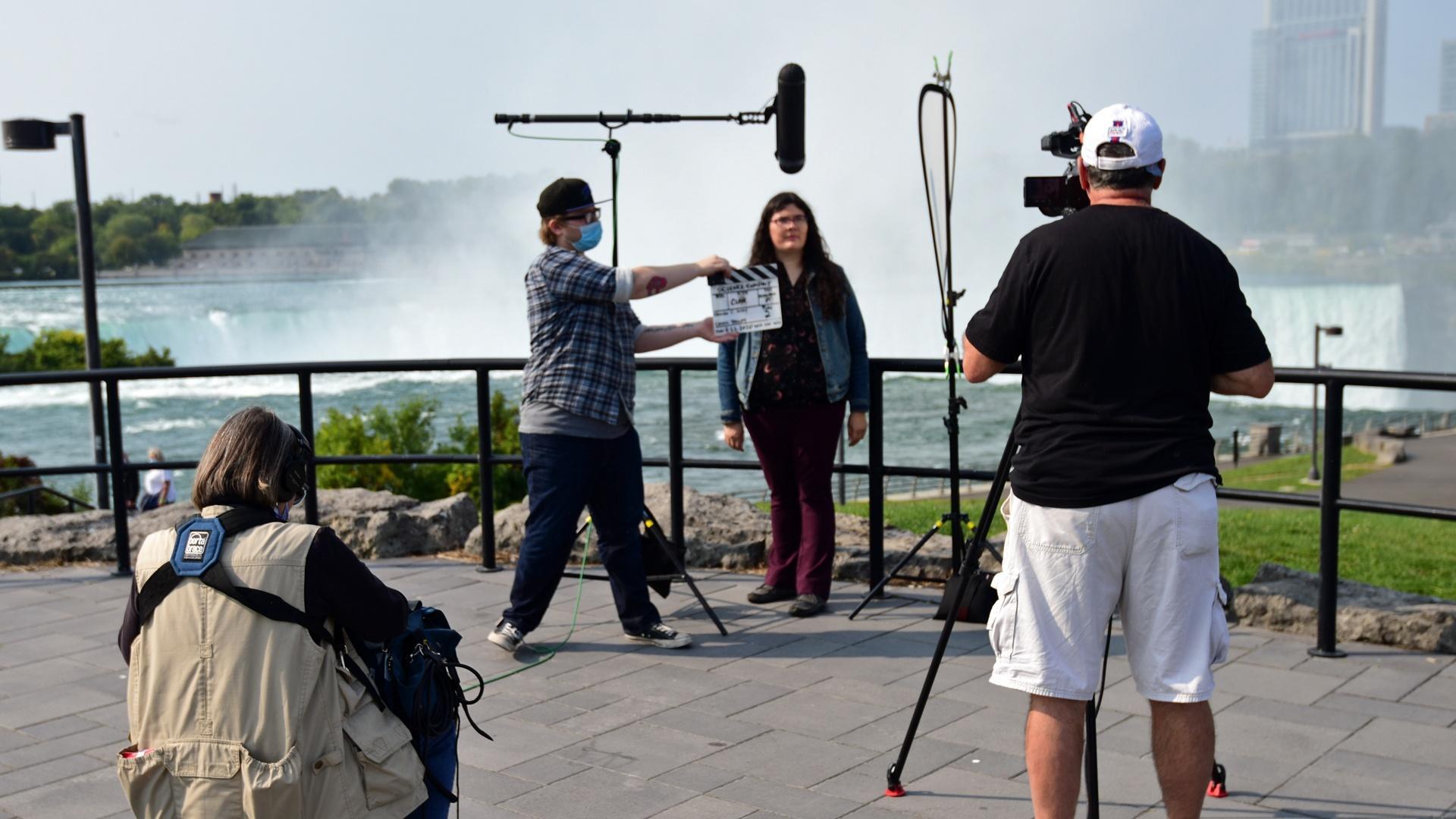 shooting and episode of Compact Science at Niagara Falls