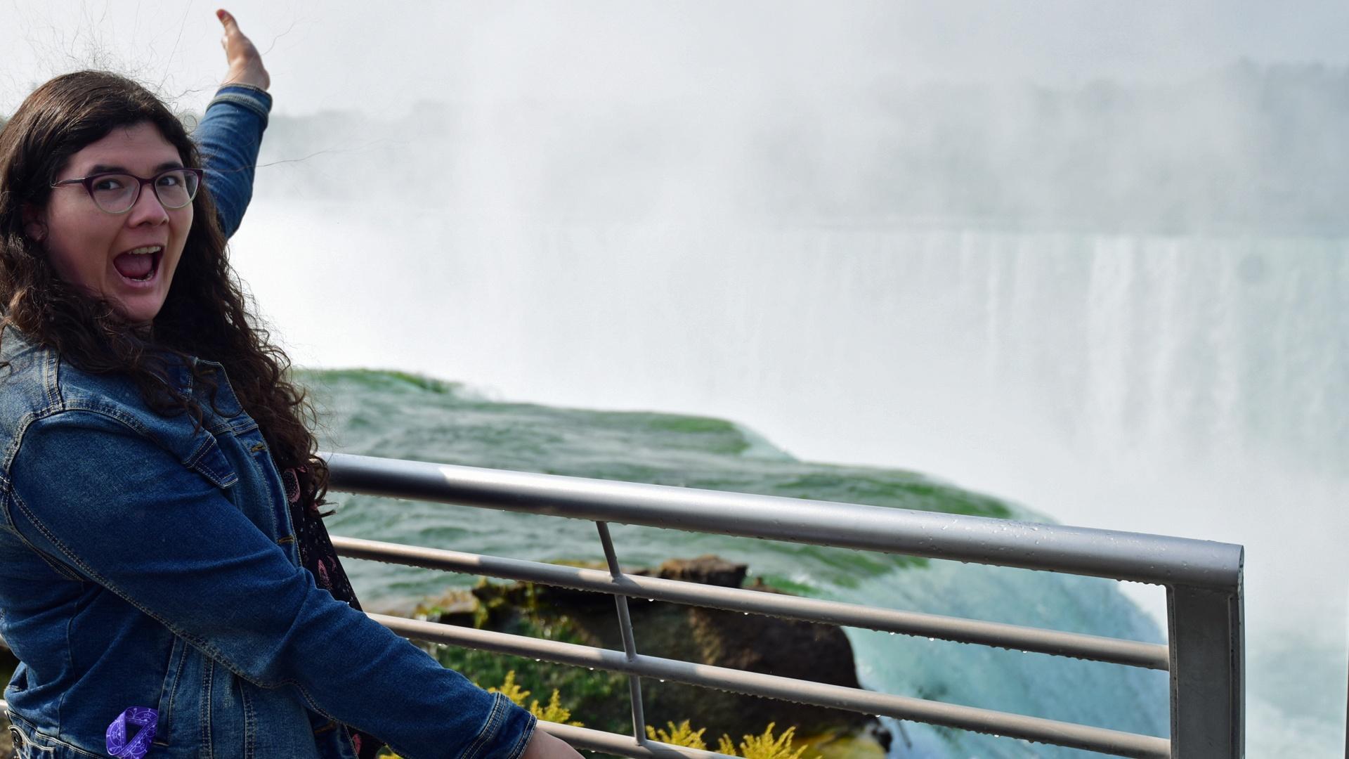 Sarajane Gomlak-Green at Niagara Falls