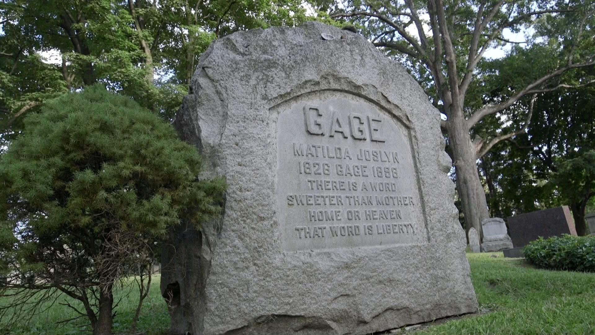 Matilda Joslyn Gage's headstone
