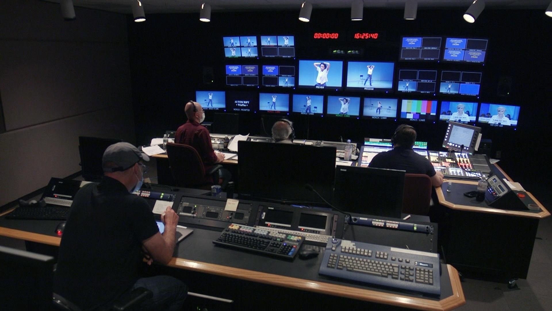 WNED PBS video control room