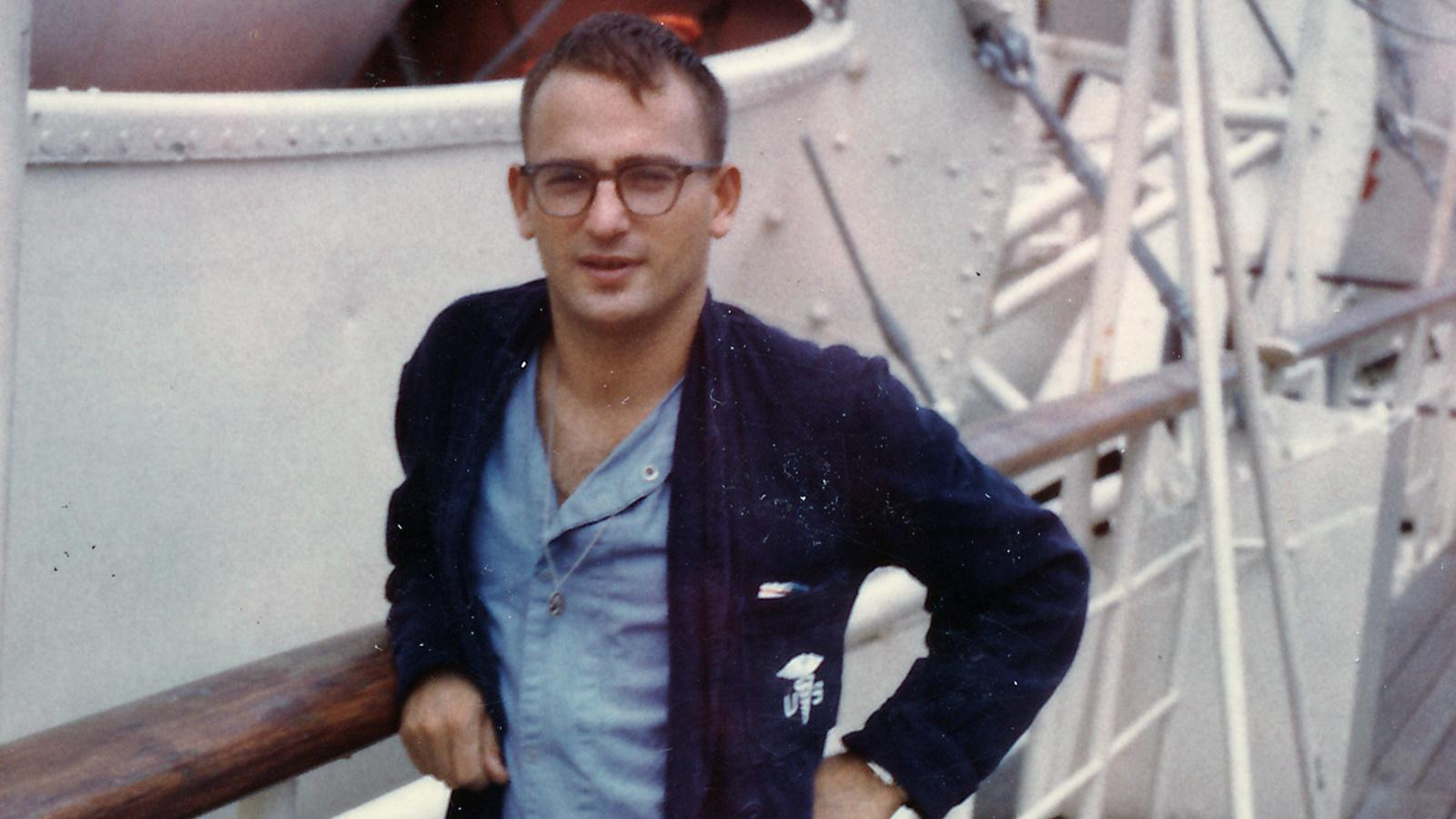 Dominic was wounded several times while serving in Vietnam.  This picture was captured on board a hospital ship as he healed from his wounds.