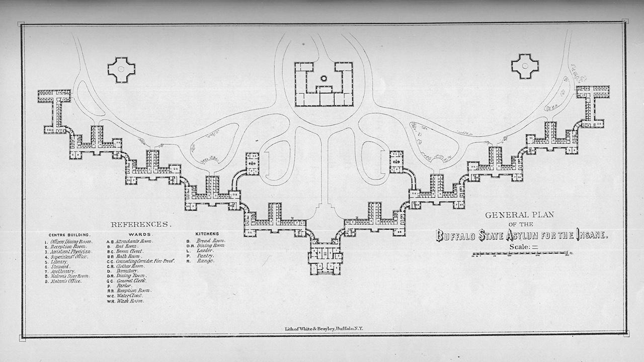 Kirkbride plan for Buffalo State Hospital