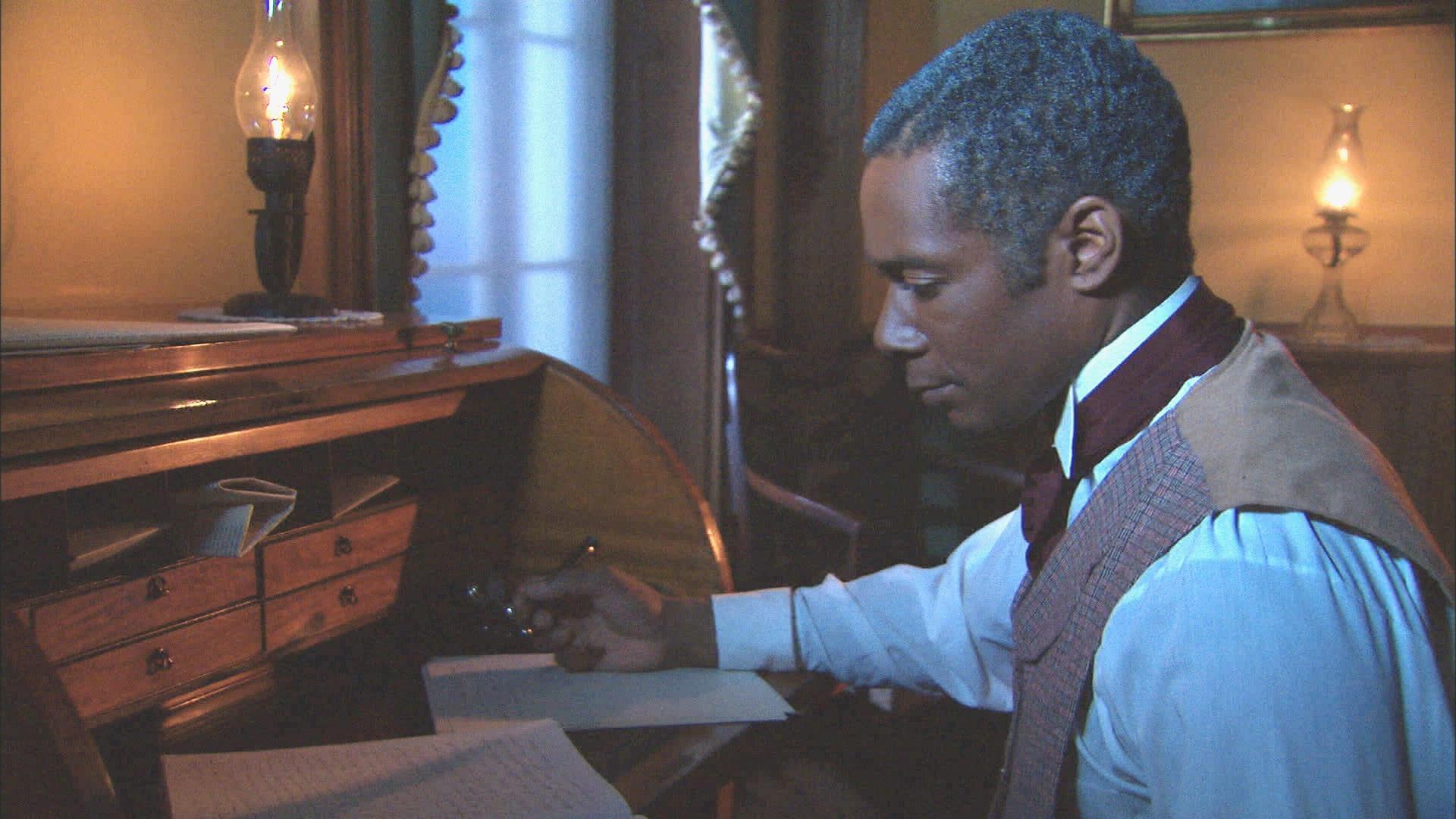 reenactment of William Still at desk