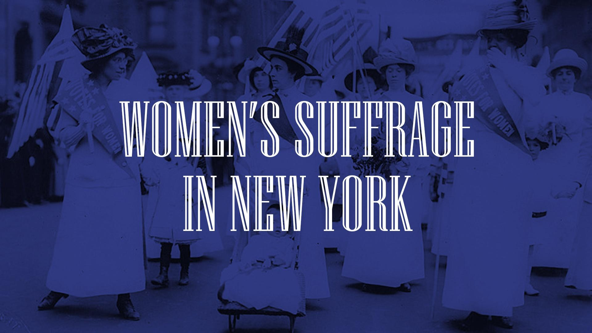Women's Suffrage in New York