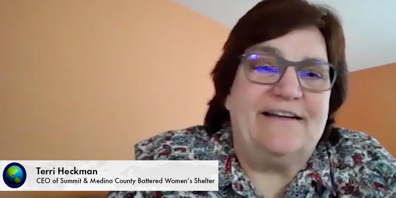 Terri Heckman, CEO of Summit & Medina County Battered Women's Shelter