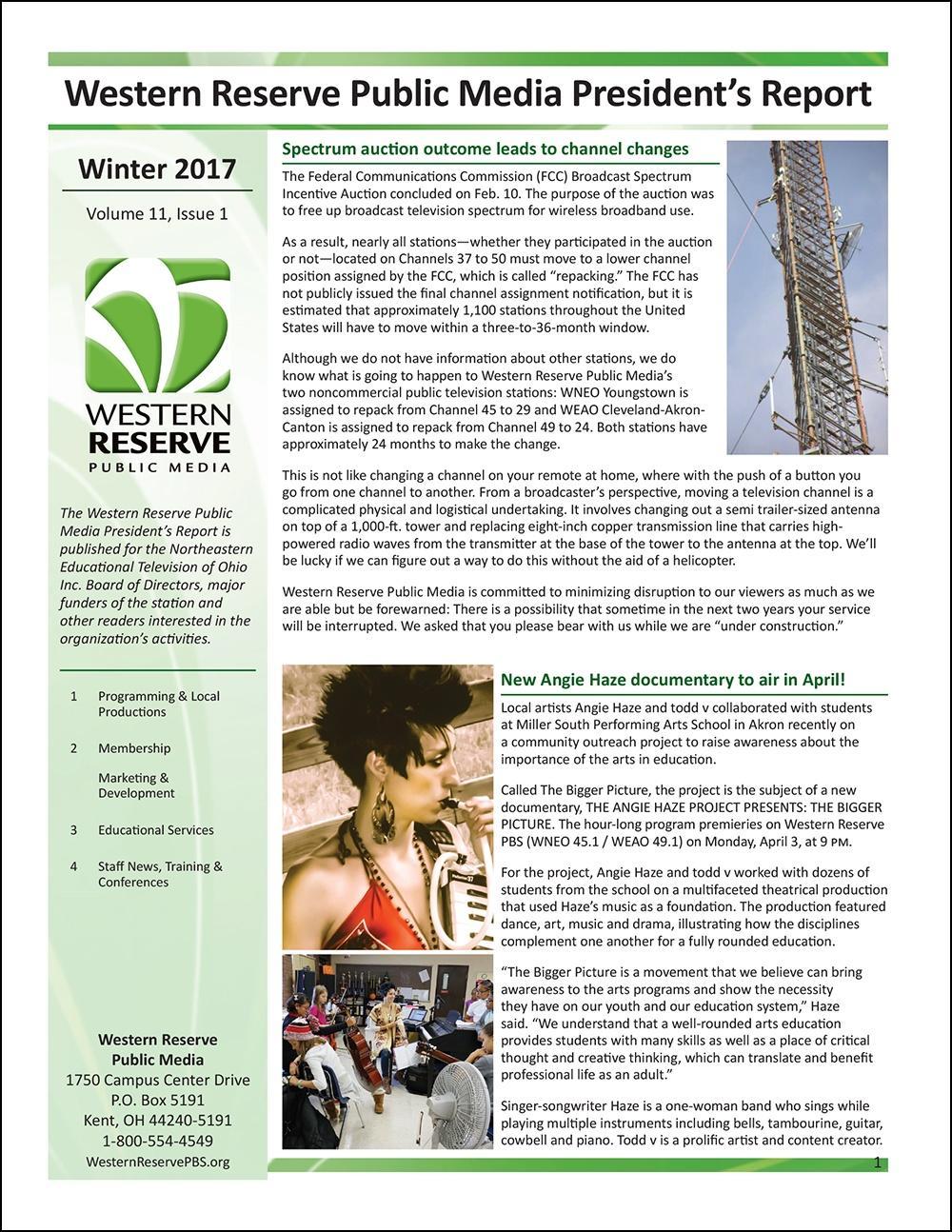Winter 2017 - Volume 11, Issue 1