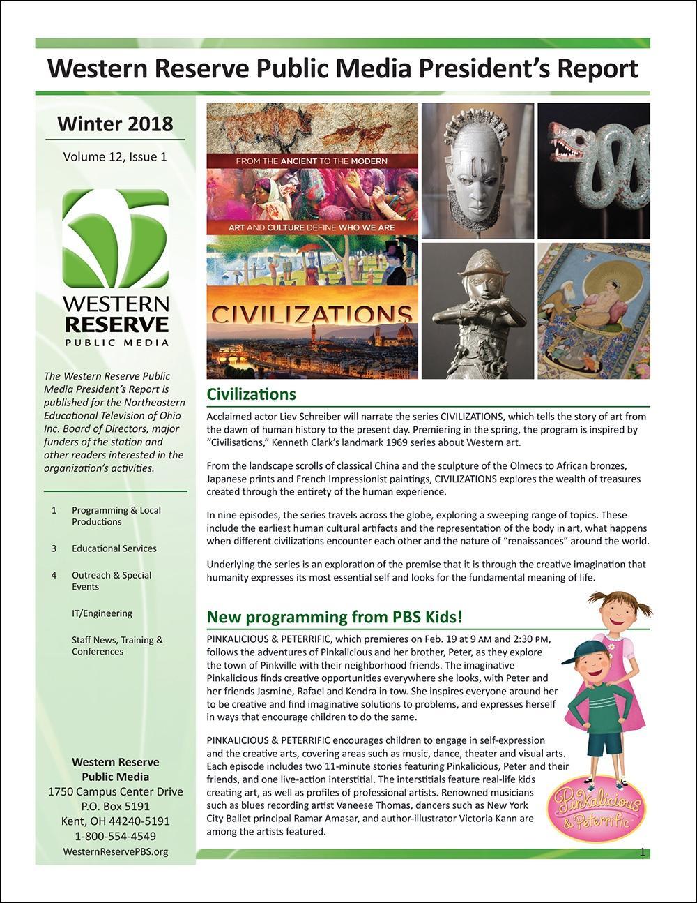 Winter 2018 - Volume 12, Issue 1