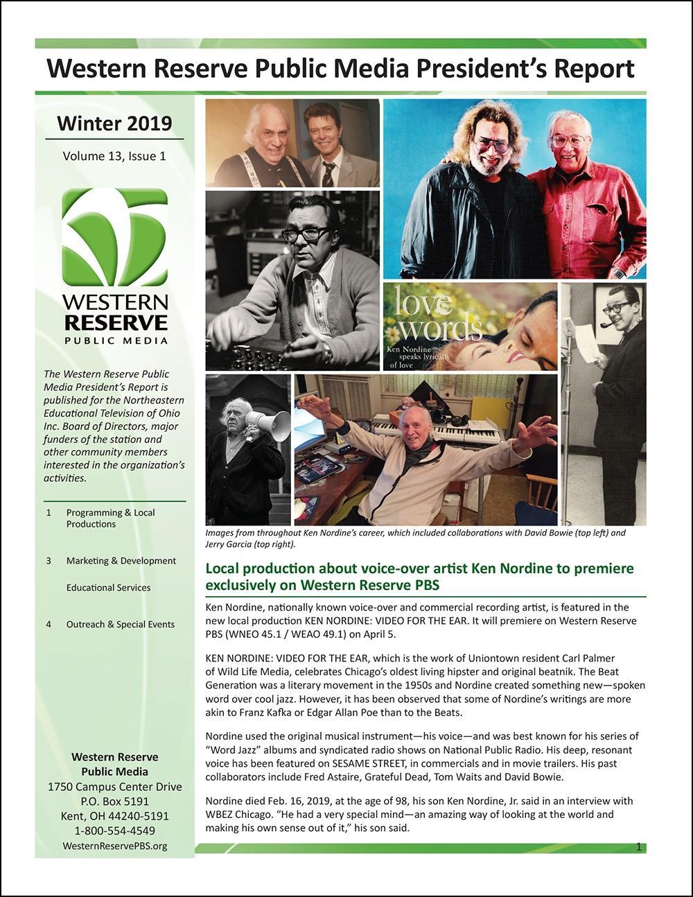 Winter 2019 - Volume 13, Issue 1