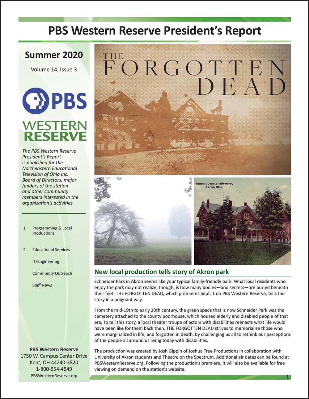 President's Report - Summer 2020 - Volume 14, Issue 3