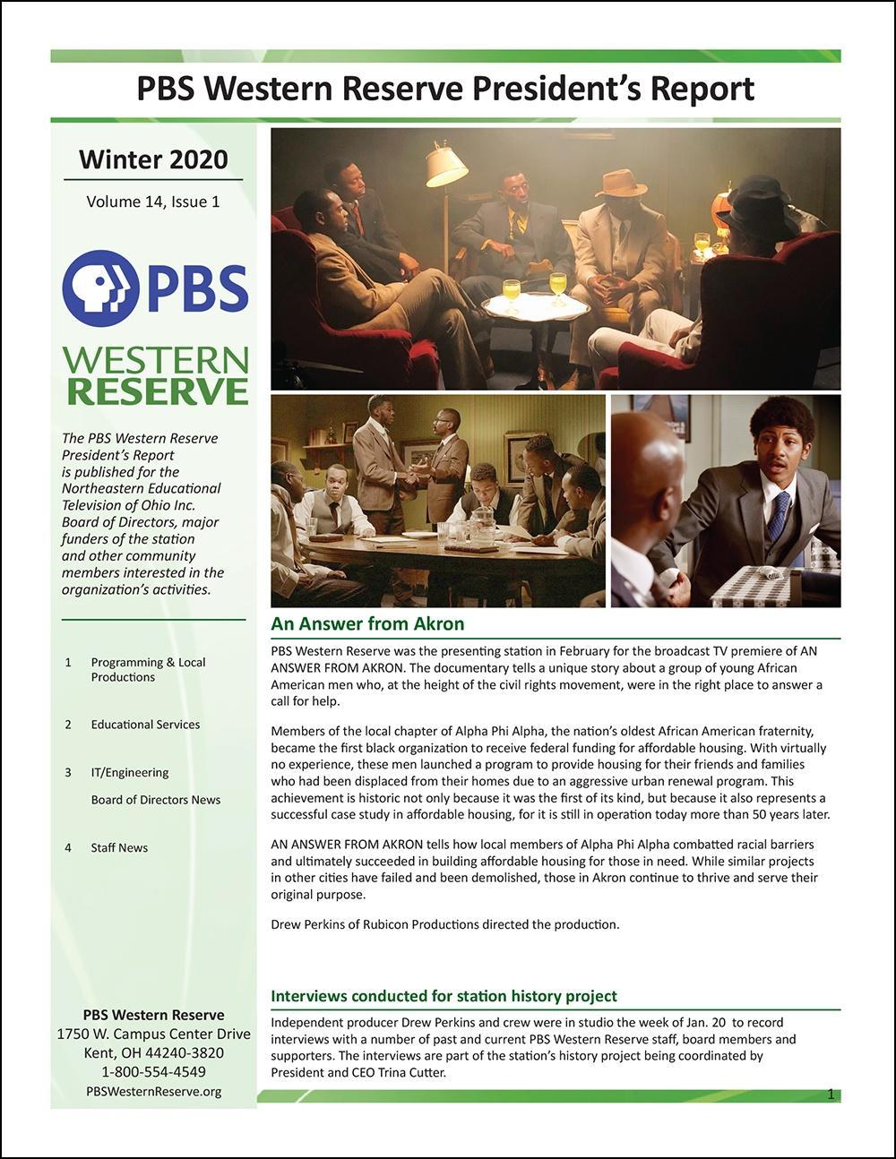 Winter 2020 - Volume 14, Issue 1