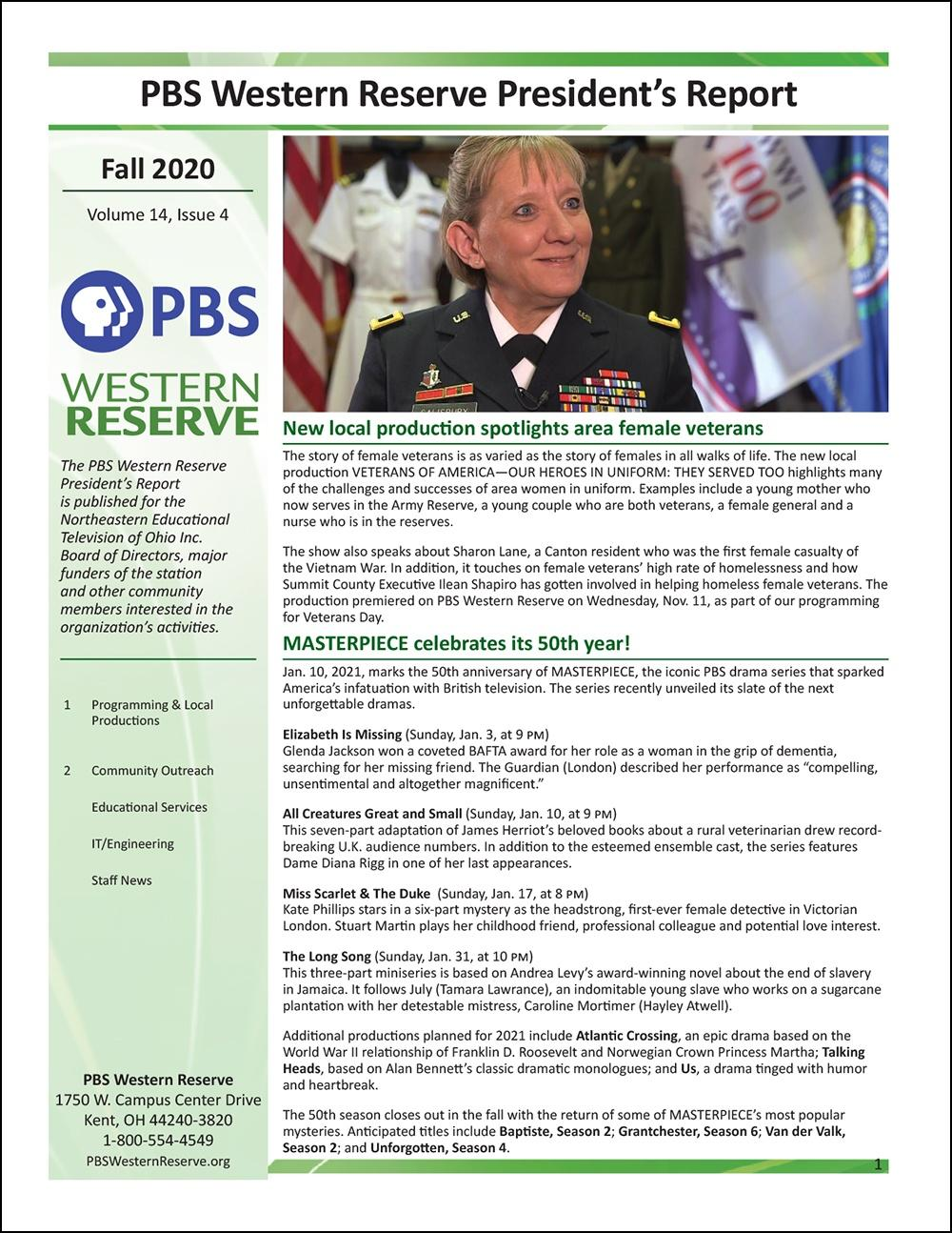 President's Report - Fall 2020 - Volume 14, Issue 4