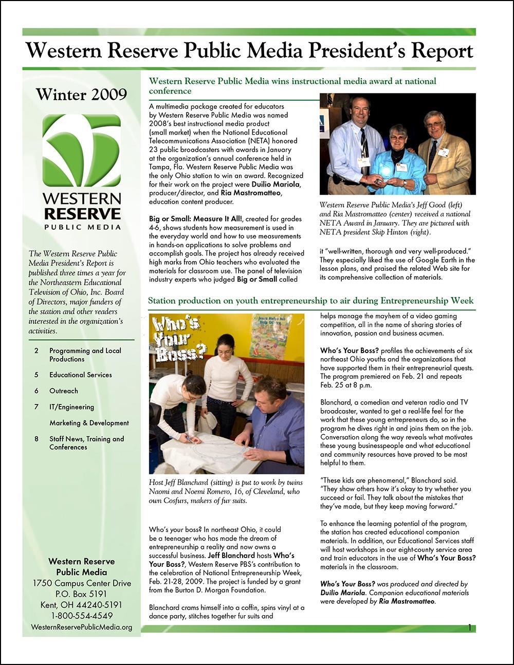 Winter 2009 - Volume 3, Issue 1