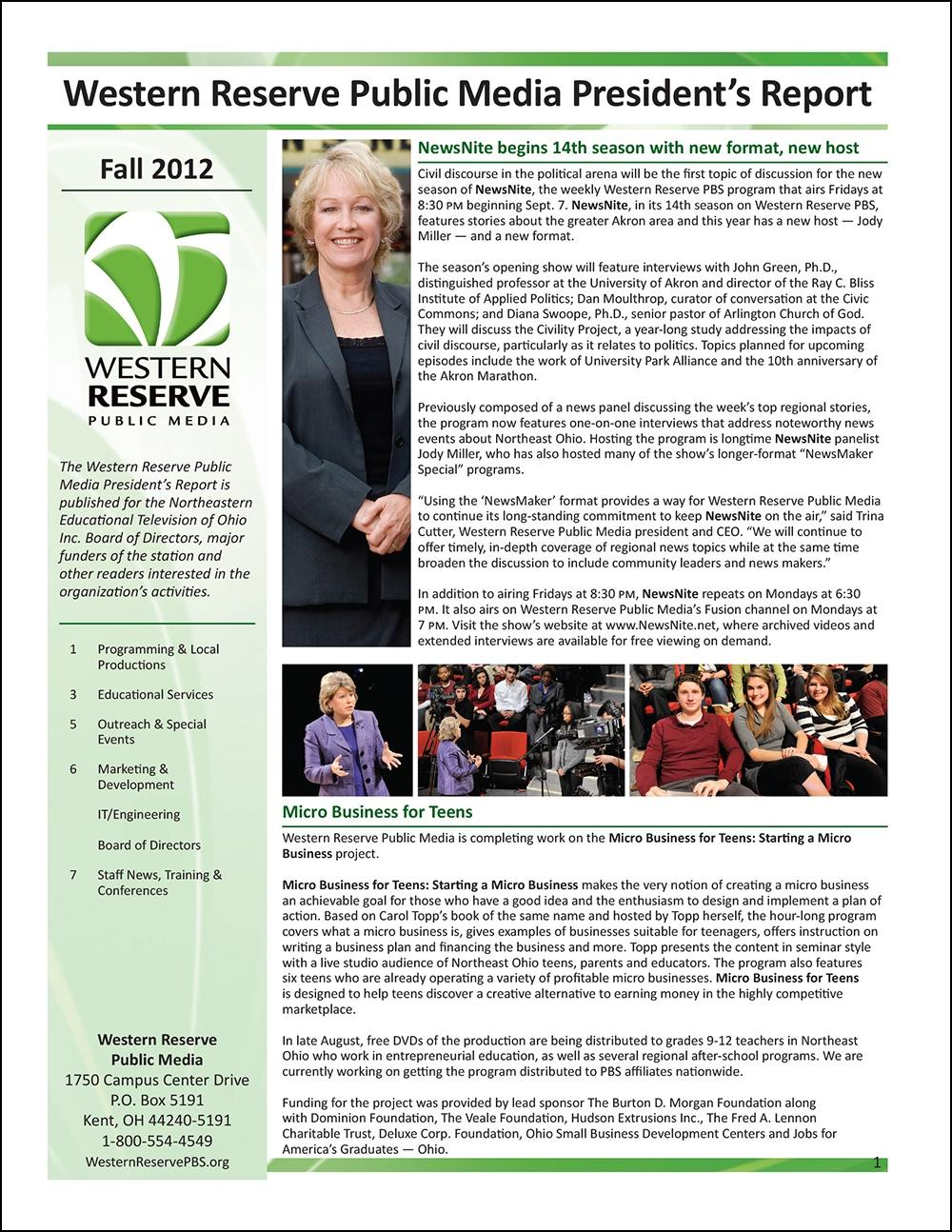 Fall 2012 - Volume 6, Issue 3