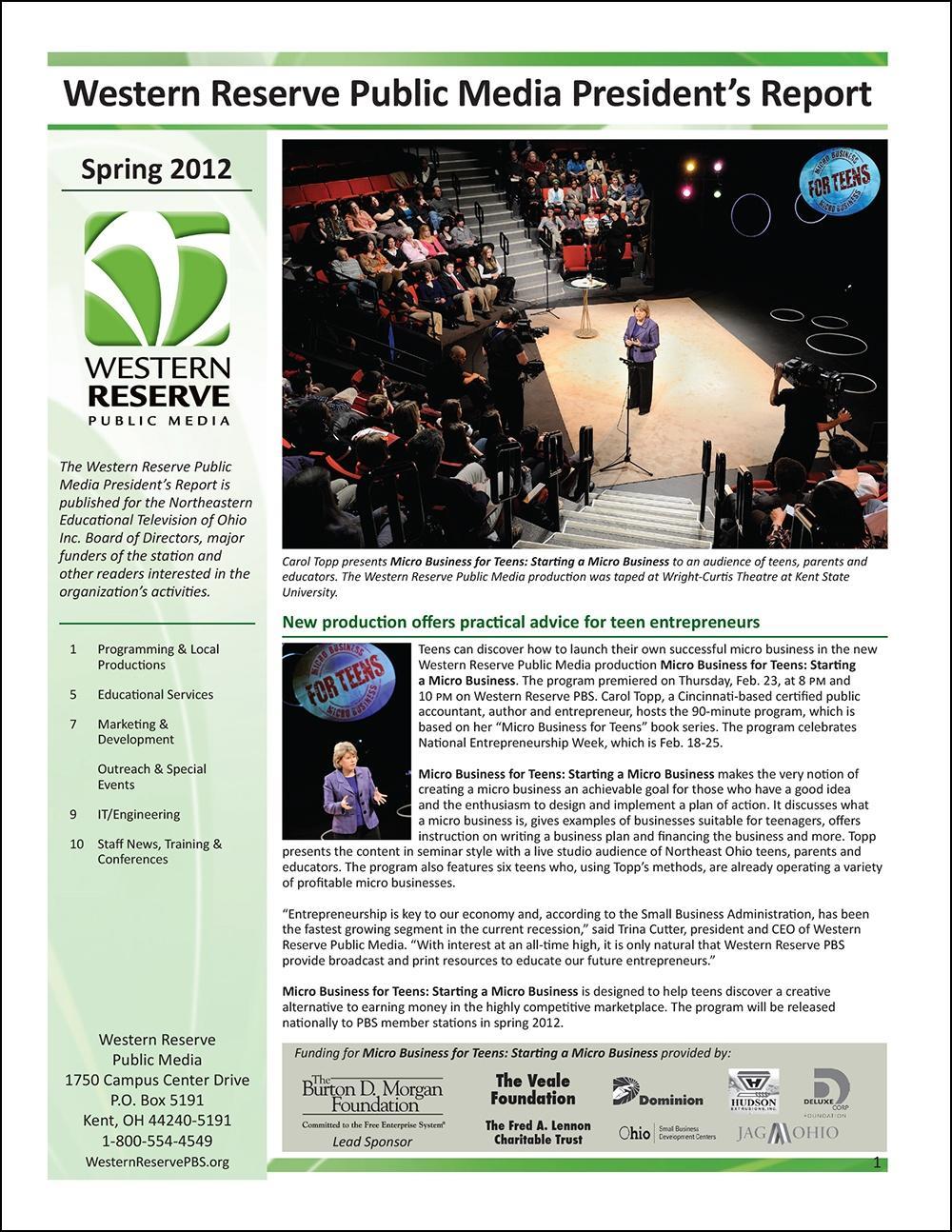 Spring 2012 - Volume 6, Issue 1