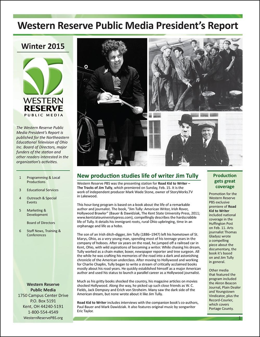 Winter 2015 - Volume 9, Issue 1