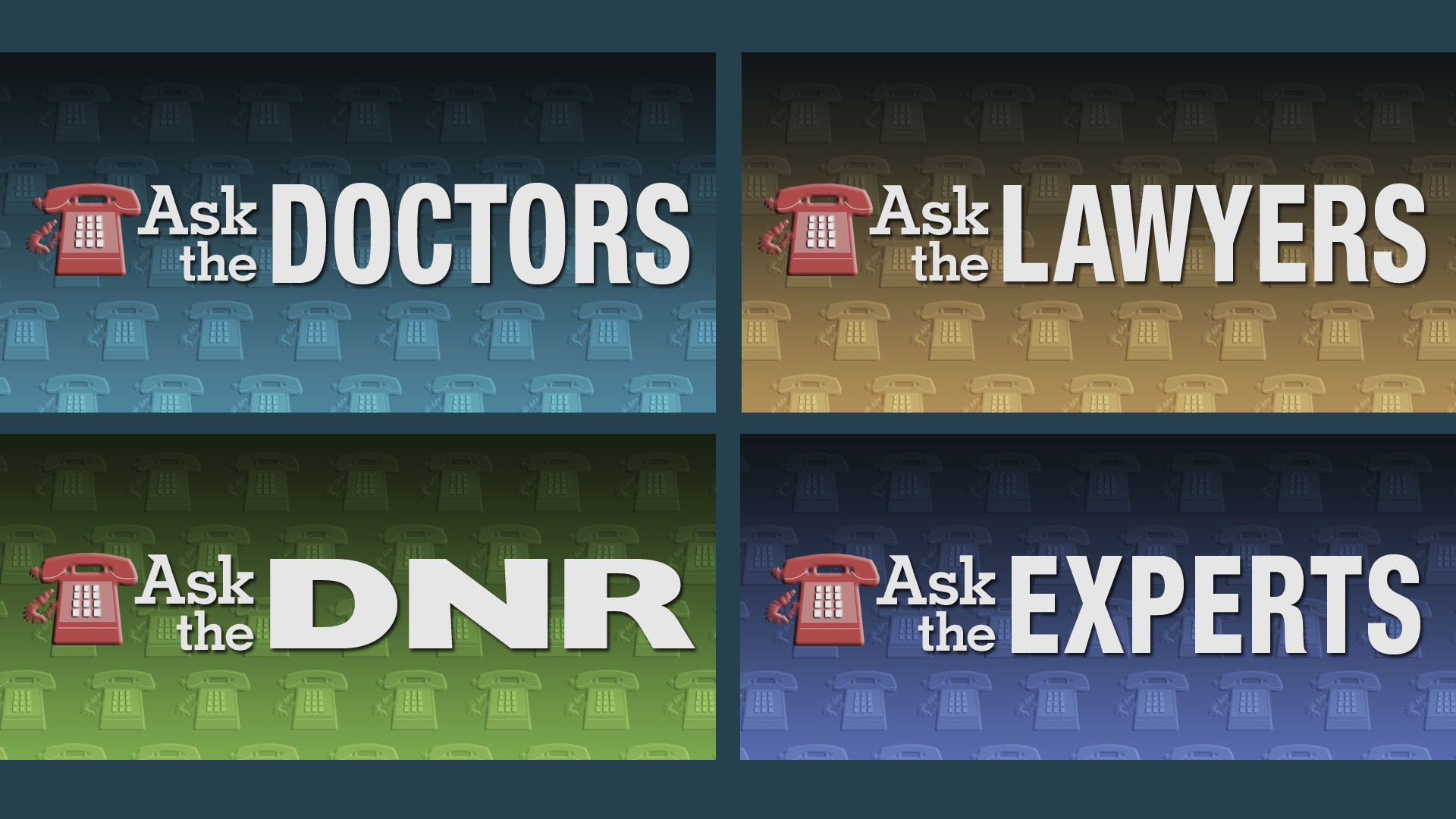 Ask the series program title graphic