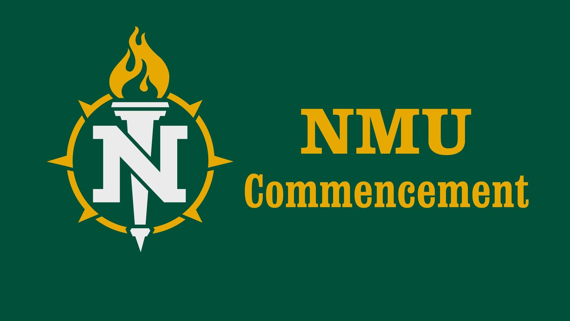 NMU Commencement title graphic