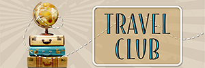 Rhode Island PBS Travel Club logo with stacked suitcases topped with globe.