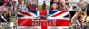 Rhode Island PBS Brit Club logo over various images of britcom programs.