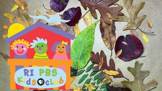 Rhode Island PBS Kids Club logo and child with fingerpaint on hands.