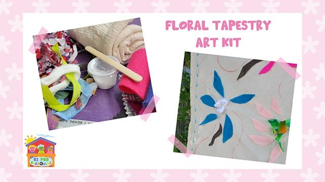Floral Tapestry Art Kit