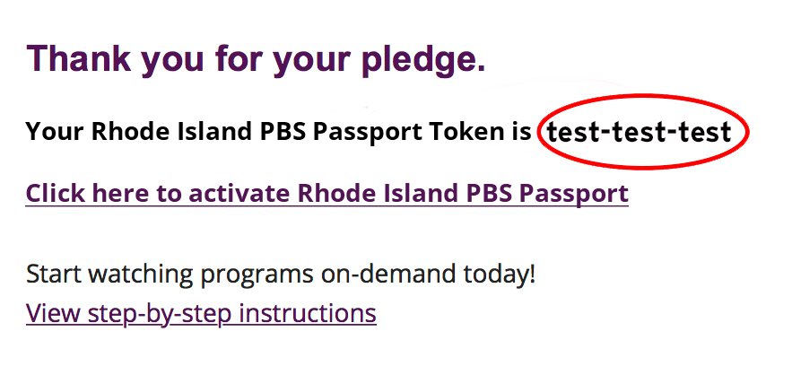 Rhode Island PBS Passport - Click Here to Activate