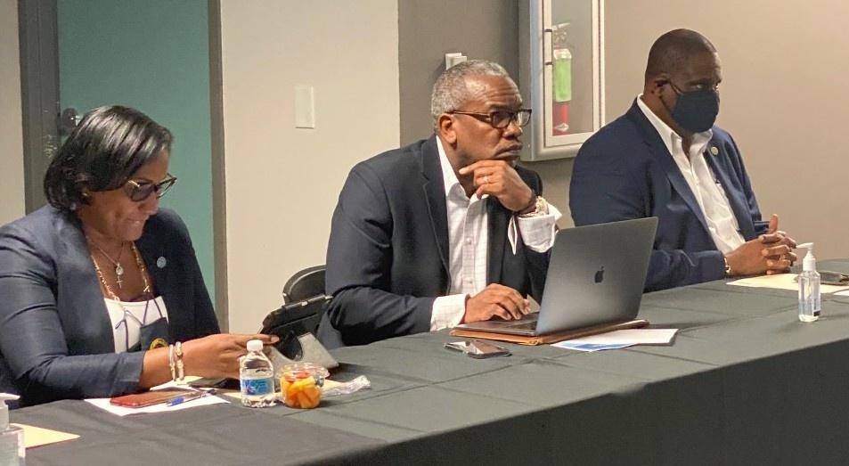 Sen. Frett-Gregory, Governor Bryan and Sen. Gittens Meeting in Miami