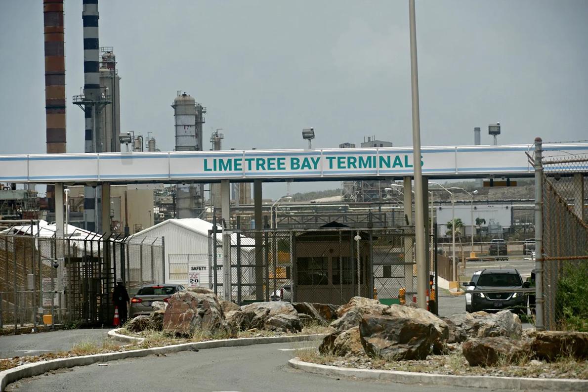 Entrance to Limetree Bay Terminals