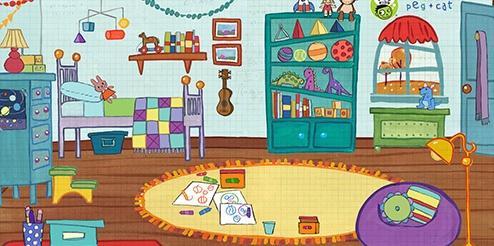 Cartoon Child's Bedroom
