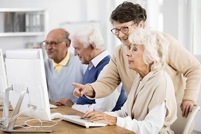 Seniors on Computers