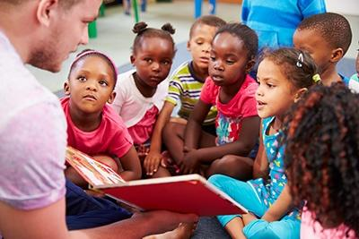 Children in story time
