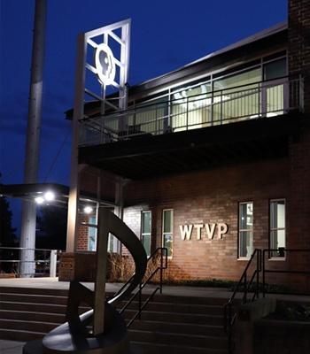 WTVP Building at Night