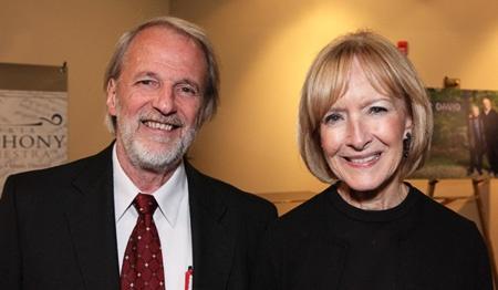 H Wayne Wilson and Judy Woodruff, host of the PBS NewsHour