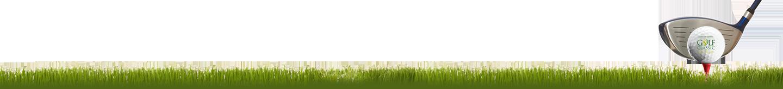 Grass, golf ball and golf club