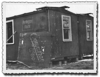 Boxcars being converted