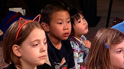 Young audience members