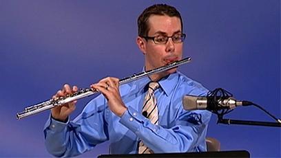 PSO principal flutist John McMurtery