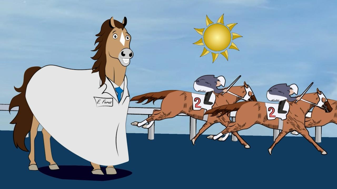 Graphic of horse racing