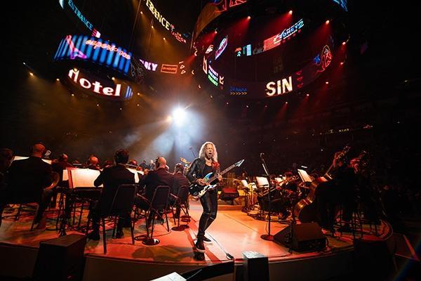 Metallica lead guitarist Kirk Hammett with the San Francisco Symphony.