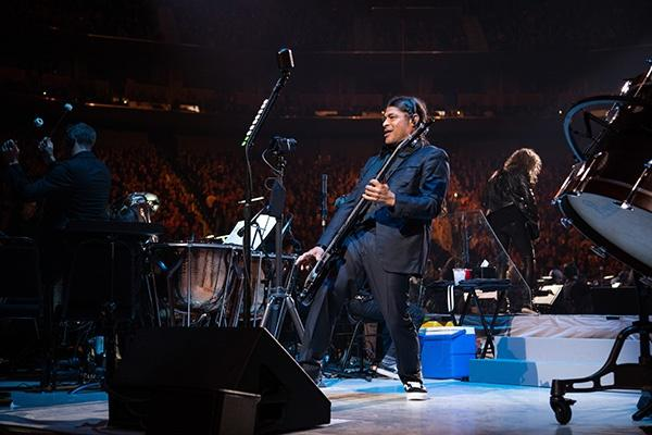 Metallica bassist Robert Trujillo.