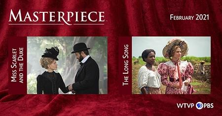 Red Curtin & Photos of Programs | Masterpiece in February , Miss Scarlet and the Duke & The Long Song