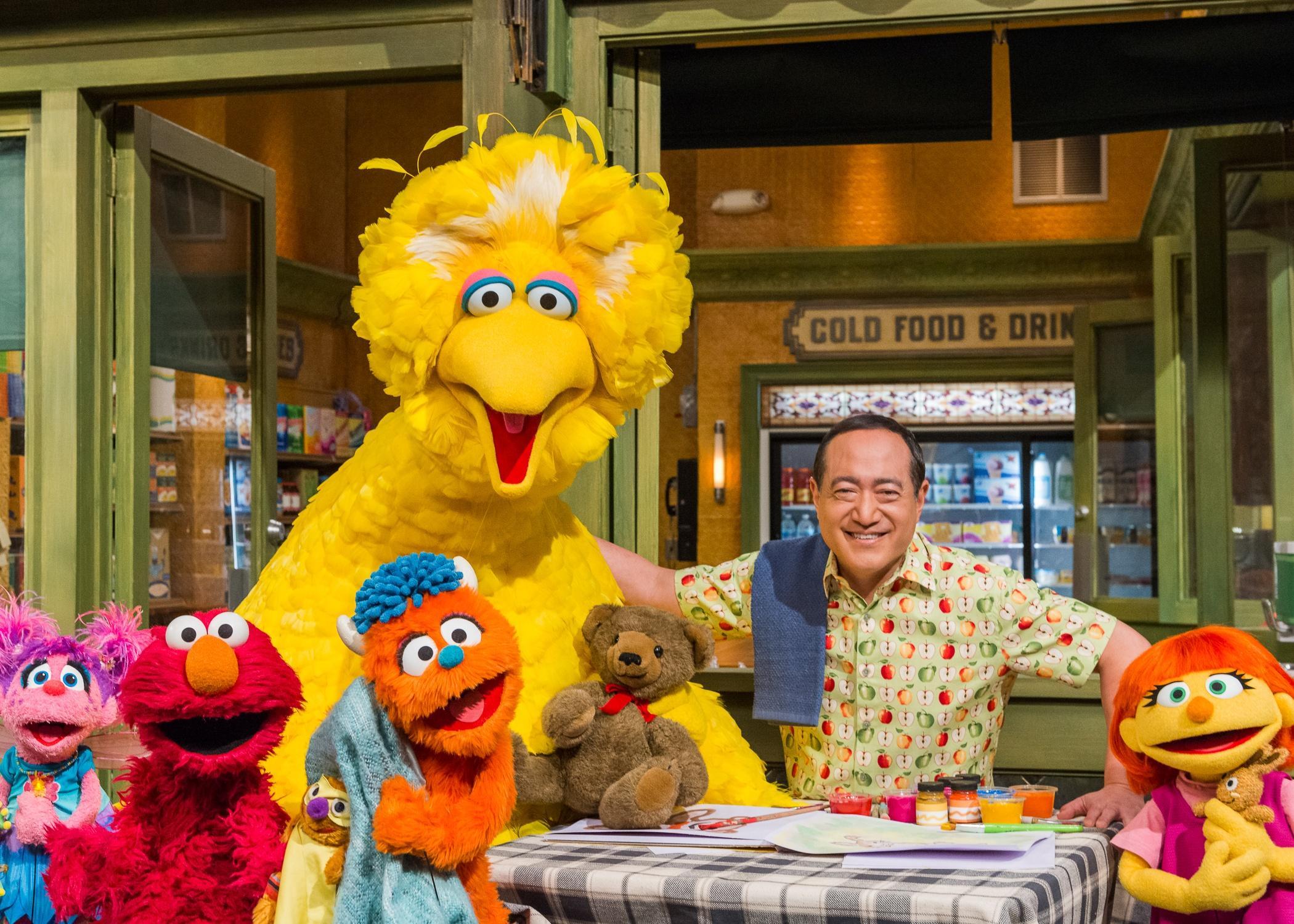 various Sesame Street characters
