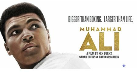 Bigger than Boxin. Larger Than Life. Muhammad Ali. A film by Ken Burns, Sarah Burns & David McMahon.