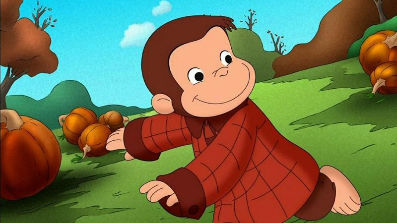 Curious George in Pumpkin Patch