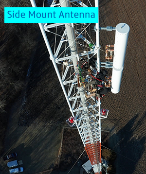 WTVP Broadcast Tower - Side mount antenna