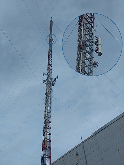 Side Mount Antenna Mounted on the WTVP tower