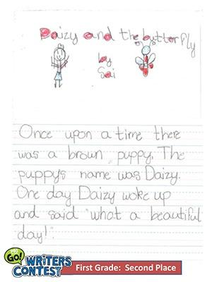 """First Grade: """"Daizy and the Butterfly"""""""