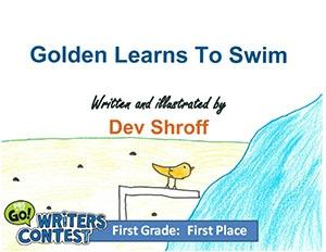 """First Grade: """"Golden Learns to Swim"""""""