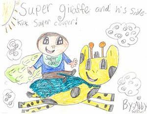 "Third Grade: ""Super Giraffe and His Sidekick Super Cooper"""