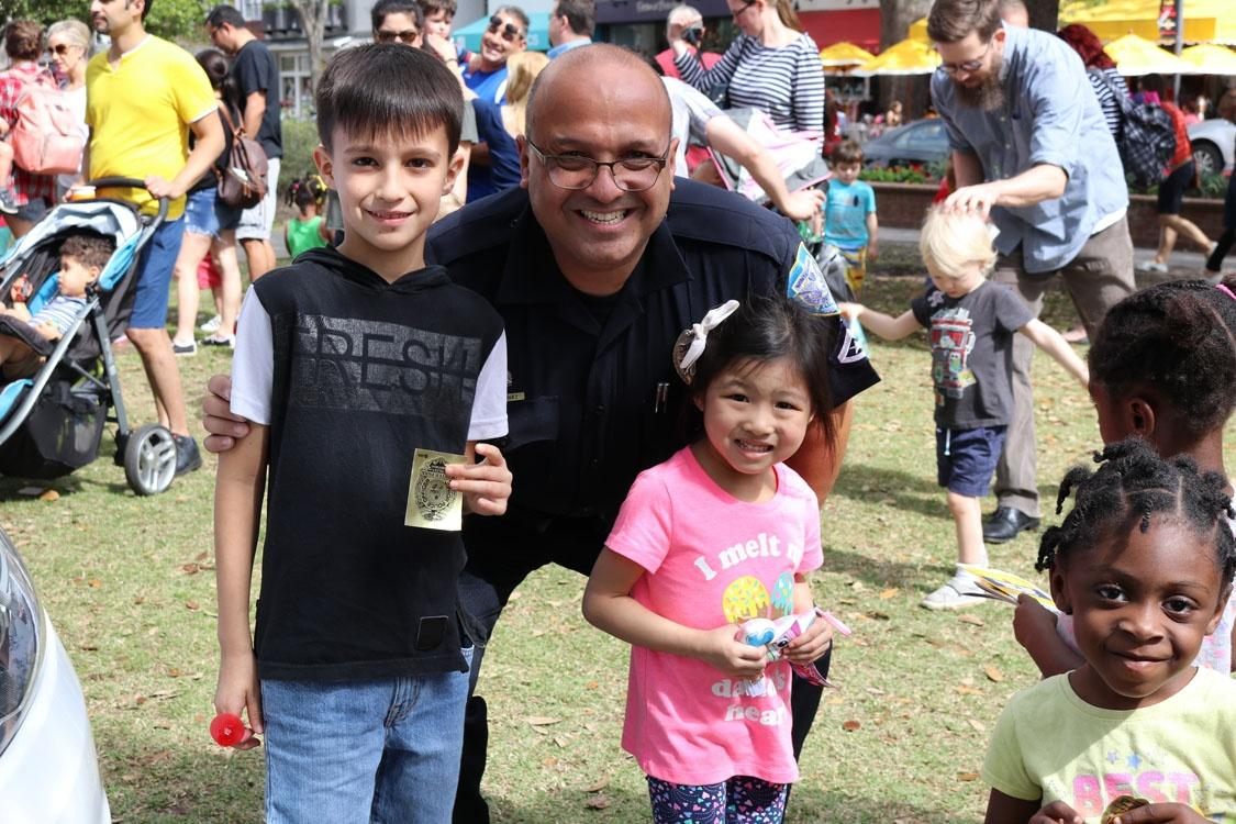 Meeting important community helpers at WUCF's Be My Neighbor Day in Winter Park.